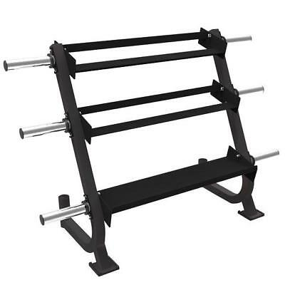Muscle Motion All In One 3 Tier Rack For Dumbell, Kettlebells, Weight And Bar