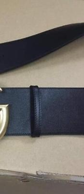 """black Wide leather with pearl 2.5"""" width hip waist belt extra large Oversized"""