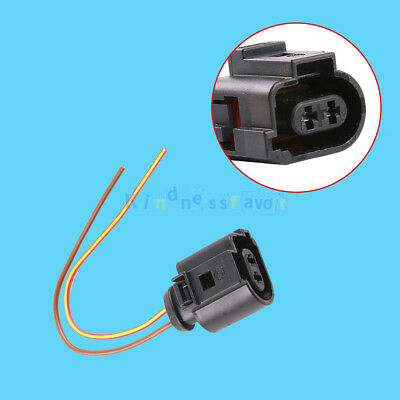 2 Pin Connector Plug Wiring Electrical Harness 1J0973722 For VW Audi 2004-2009