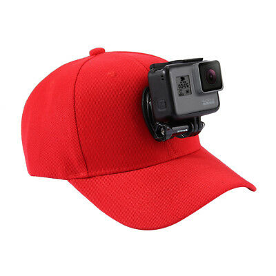 PULUZ Baseball Hat with J-Hook Buckle Mount for GoPro HERO6 5 4 Session 3 3+ Red