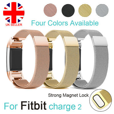 For Fitbit Charge 2 Strap Replacement Milanese Loop Band Magnet Metal Buckle UK