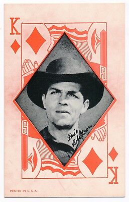 """Dale Robertson Penny Arcade Vending Machine Playing Card 3 3/8"""" x 5 3/8"""" 1950s"""