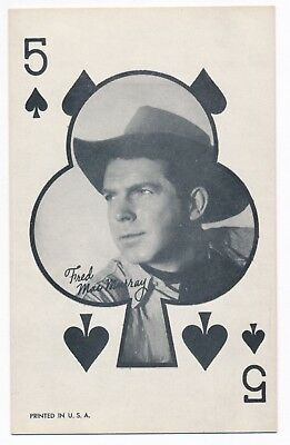 """Fred MacMurray Penny Arcade Vending Machine Playing Card 3 3/8"""" x 5 3/8"""" 1950s"""