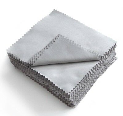 10 x Grey Microfibre Cloths Pack High Quality Soft Cloths Glasses Phone Wipes