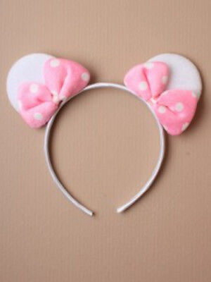 2 x  mouse ears headband Fancy Dress Costume Accessory Unisex Dress up