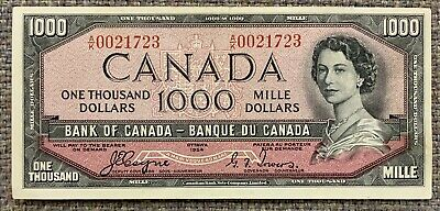 1954 Bank of Canada Rare Devil's Face $1000  - S/N: A/K0021723 Legacy - EF40 PPQ