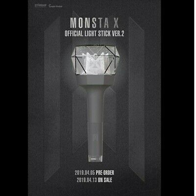 MONSTA X - OFFICIAL LIGHT STICK VER.2 NEW + Free Shipping & Traking Number