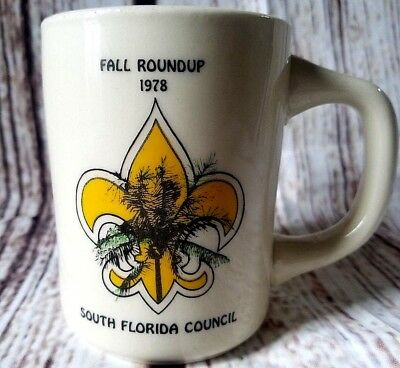 1978 BSA Fall Roundup Coffee Mug S Florida Council Cup 1