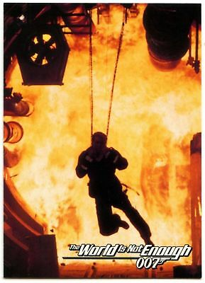 Fire In Hole #39 The World Is Not Enough 1999 James Bond 007 Trade Card (C1158)