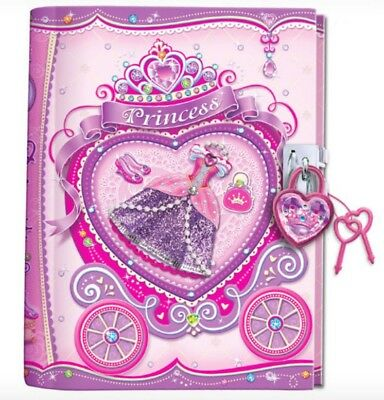 Girls Childrens Princess Lockable Diary with Lock & Keys- Journal Notebook Gift
