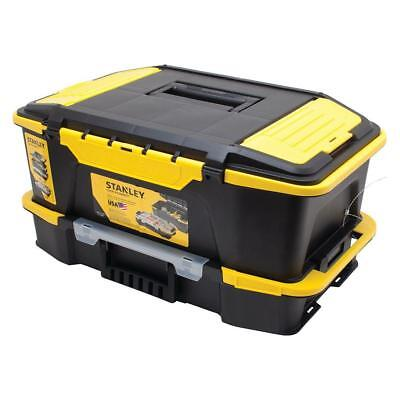 USA STANLEY Tool Box Organizer Storage Bin 20u0027u0027 Portable Stackable Plastic  Chest