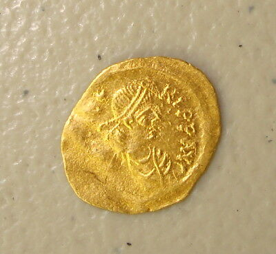 AD 582-602 Maurice Tiberius Ancient Byzantine Gold Tremissis XF