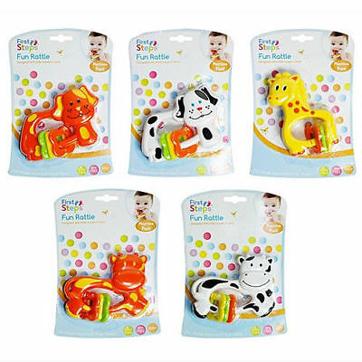 Baby Boys Girls Fun Play Animal Rattle Toy Babies Cow Giraffe Dog Assorted