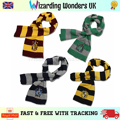 Harry Potter Scarf Gryffindor Slytherin Ravenclaw Hufflepuff Fancy Dress Cosplay