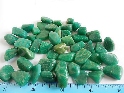 49pc AAA TUMBLED AMAZONITE 15-25mm;RUSSIA 100.4g;Metaphysical Healing ORGONE #26