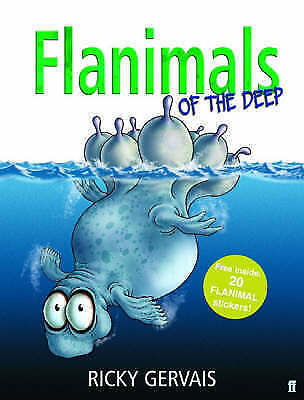 Flanimals of the Deep by Ricky Gervais (Hardback, 2006) with20 flanimal stickers