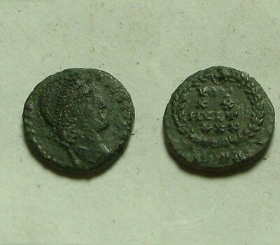 Rare Genuine ancient Roman coin Constans 347 AD Laurel Victory wreath Heraclea