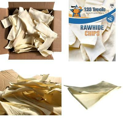 Natural Rawhide Chips for Dogs | Quality Bulk Beef Hide Dog Chews by 123 Trea...