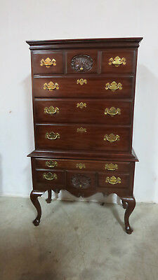 Henkel Harris Highboy Tall Chest Chippendale Mahogany