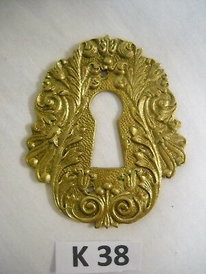 Antique Victorian Brass Keyhole Cover French