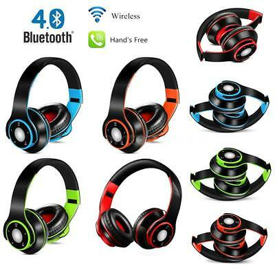 4in1 Foldable Wireless Bluetooth Stereo Music Over-ear EDR Headphone TF FM X2E3