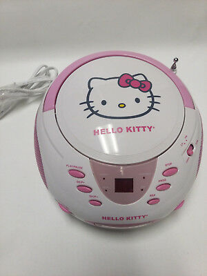 2012 Sanrio Hello Kitty Cd Boombox Am/fm Stereo Radio Kt2024A Working No Issues