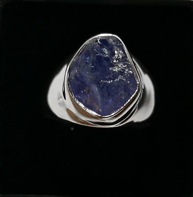 001 Tanzanite gemstone solid 925 sterling silver ring size R/9 rrp$99.95