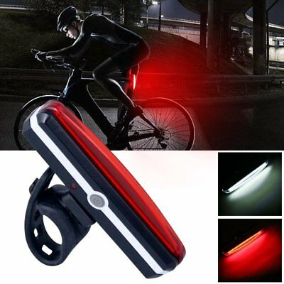 USB Rechargeable Bicycle Bike Cycling Front Rear Tail Light LED 6 Modes Lamp AU
