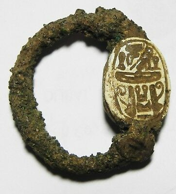 Zurqieh -As3926- Ancient Egypt ,2Nd Intermediate Stone Scarab. 1782 - 1570 B.c