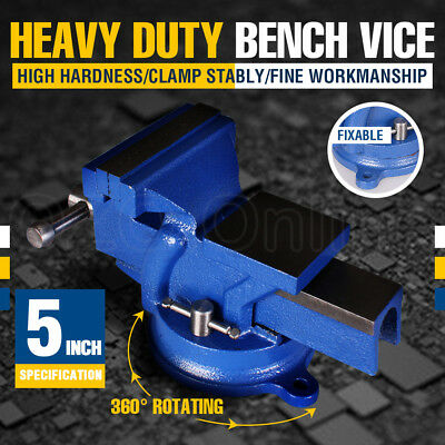 """5"""" INCH 125MM Mechanic Workshop Table Bench Vice Heavy Duty Steel Grip Clamp NEW"""