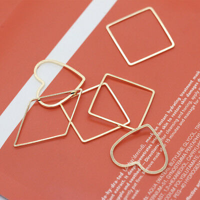 Silver Gold plated Copper Metal Geometric Pendant Earrings finding varis styles