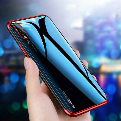 For Huawei P9 P10 P20 Lite/Plus Shockproof Slim Soft Electroplate TPU Case Cover