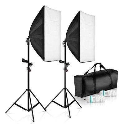 1250W Photo Studio Automaic Softbox Continuous Lighting Video Light Stand Kit UK