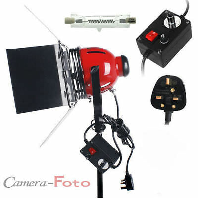 800W Red Head Continuous Lighting for video shooting Dimmer Heat Releasing Ring