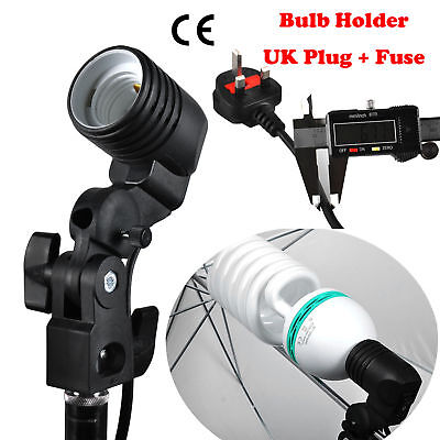 Photography Photo Studio Lamp Light bulb Single Holder E27 Socket Flash Bracket