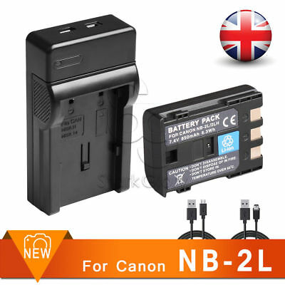 1X Battery+USB Charger for Camera Canon NB-2LH NB-2L BP-2L5 EOS 400D 350D G9 G7