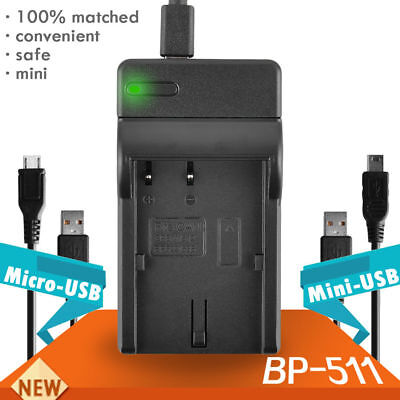 BP-511 BP511 Li-ion Battery USB Charger For Canon EOS 5D 20D 30D 300D UK Local