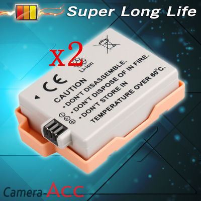 2 X Rechargeable Battery FORCanon LP-E5 EOS 450D 500D Digital Rebel Xsi T1i