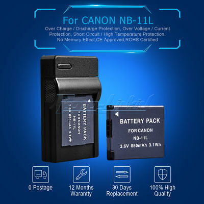 Battery+USB Charger for Canon NB-11L NB-11LH IXUS 170 165 160 125 HS 240 140 UK