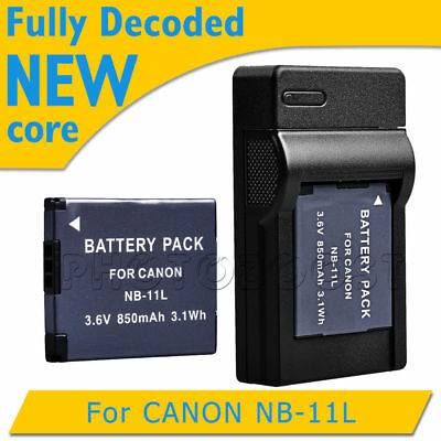 850mAh Battery+USB Charger for Canon NB-11L NB-11LH IXUS 240 125 275 HS A3400 UK