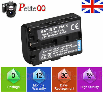 New battery for sony NP-FM50 NP-FM30 camcorder 4HR CCD