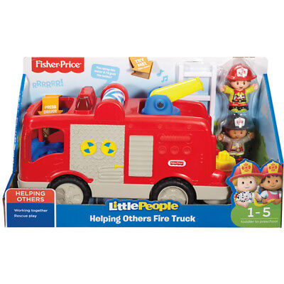 Fisher Price Little People Helping Others Fire Truck NEW