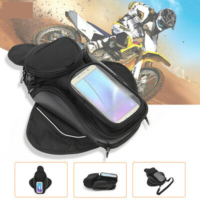 Magnetic Motorcycle Bike Oil Fuel Tank Bag Pocket Saddlebag Waterproof Phone USA