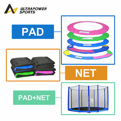 Trampoline Replacement Pad Safety Net Rain Cover Ladder Padding 6 8 10 12 14 Ft