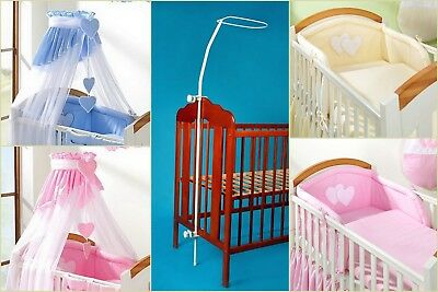 7pcs BABY BEDDING SET /BUMPER/CANOPY /HOLDER for COT(120/60) or COTBED(140/70)