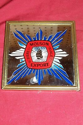 Old Molson Export Beer Mirror Sign Biere Ale Bar Advertising Ad Vintage Carnival