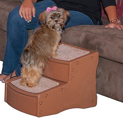 Pet Gear Dog Cat Pet Easy Step II Steps Sofa Bed Ramp Step Stair Light Cocoa