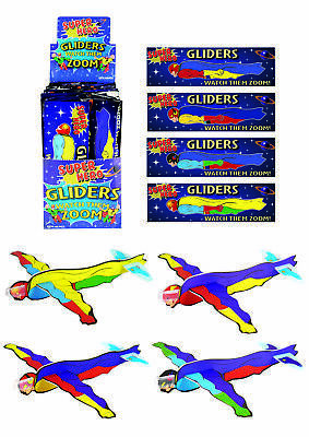 JOB LOT of 48 SUPER HERO GLIDERS Party Bag Toy WHOLESALE BULK BUY