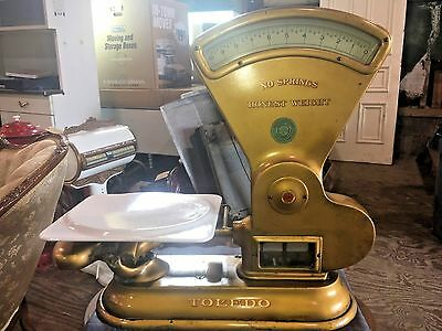 Antique Toledo Porcelain Vintage General Store Scale