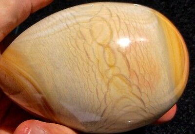 POLYCHROME JASPER BEAUTIFUL POLISHED LARGE EGG 386 GRAMS or 13.6 OUNCES